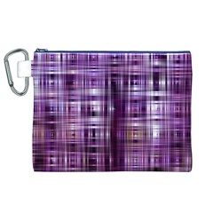 Purple Wave Abstract Background Shades Of Purple Tightly Woven Canvas Cosmetic Bag (xl) by Simbadda