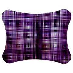 Purple Wave Abstract Background Shades Of Purple Tightly Woven Jigsaw Puzzle Photo Stand (bow)