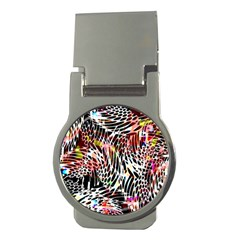 Abstract Composition Digital Processing Money Clips (round)  by Simbadda
