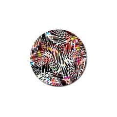 Abstract Composition Digital Processing Golf Ball Marker (10 Pack) by Simbadda