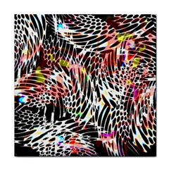 Abstract Composition Digital Processing Face Towel by Simbadda