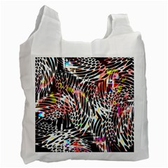 Abstract Composition Digital Processing Recycle Bag (two Side)  by Simbadda
