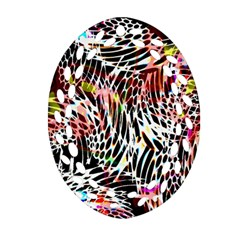Abstract Composition Digital Processing Oval Filigree Ornament (two Sides) by Simbadda