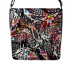 Abstract Composition Digital Processing Flap Messenger Bag (l)  by Simbadda