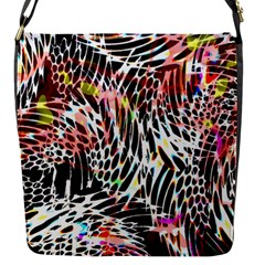 Abstract Composition Digital Processing Flap Messenger Bag (s) by Simbadda