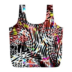 Abstract Composition Digital Processing Full Print Recycle Bags (l)  by Simbadda