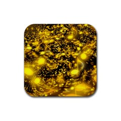 Vortex Glow Abstract Background Rubber Square Coaster (4 Pack)  by Simbadda
