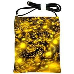 Vortex Glow Abstract Background Shoulder Sling Bags by Simbadda