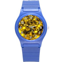 Vortex Glow Abstract Background Round Plastic Sport Watch (s) by Simbadda