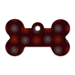 Abstract Dotted Pattern Elegant Background Dog Tag Bone (two Sides) by Simbadda