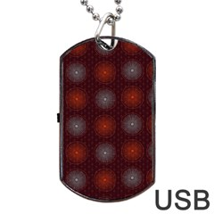 Abstract Dotted Pattern Elegant Background Dog Tag Usb Flash (two Sides) by Simbadda
