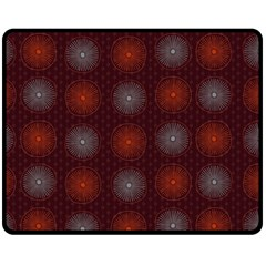 Abstract Dotted Pattern Elegant Background Double Sided Fleece Blanket (medium)  by Simbadda