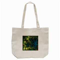 Holly Frame With Stone Fractal Background Tote Bag (cream) by Simbadda
