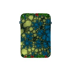 Holly Frame With Stone Fractal Background Apple Ipad Mini Protective Soft Cases by Simbadda