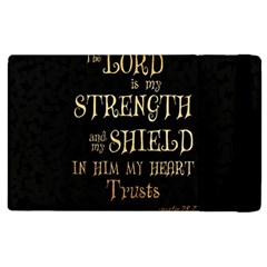 The Lord Is My Strength And My Shield In Him My Heart Trusts      Inspirational Quotes Apple Ipad 2 Flip Case by chirag505p