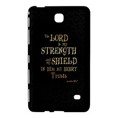 The Lord Is My Strength And My Shield In Him My Heart Trusts      Inspirational Quotes Samsung Galaxy Tab 4 (7 ) Hardshell Case  by chirag505p