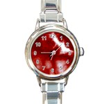 Cherry Cream Sky Round Italian Charm Watch