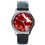 Cherry Cream Sky Round Metal Watch