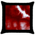 Cherry Cream Sky Throw Pillow Case (Black)
