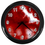 Cherry Cream Sky Wall Clock (Black)