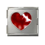 Cherry Cream Sky Mega Link Heart Italian Charm (18mm)