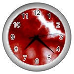 Cherry Cream Sky Wall Clock (Silver)