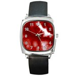 Cherry Cream Sky Square Metal Watch