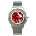 Cherry Cream Sky Stainless Steel Watch