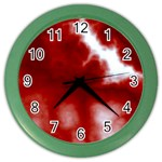 Cherry Cream Sky Color Wall Clock