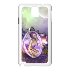 Wonderful Fairy In The Wonderland , Colorful Landscape Samsung Galaxy Note 3 N9005 Case (white) by FantasyWorld7