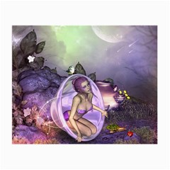 Wonderful Fairy In The Wonderland , Colorful Landscape Small Glasses Cloth by FantasyWorld7