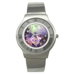 Wonderful Fairy In The Wonderland , Colorful Landscape Stainless Steel Watch by FantasyWorld7