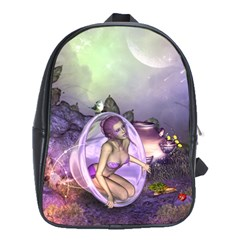 Wonderful Fairy In The Wonderland , Colorful Landscape School Bags (xl)  by FantasyWorld7