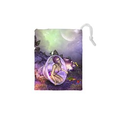 Wonderful Fairy In The Wonderland , Colorful Landscape Drawstring Pouches (xs)  by FantasyWorld7