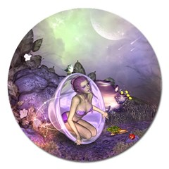 Wonderful Fairy In The Wonderland , Colorful Landscape Magnet 5  (round) by FantasyWorld7