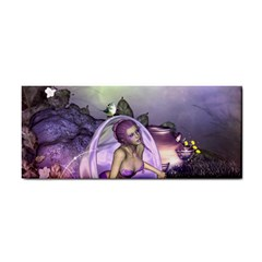 Wonderful Fairy In The Wonderland , Colorful Landscape Hand Towel by FantasyWorld7