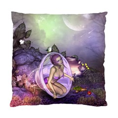 Wonderful Fairy In The Wonderland , Colorful Landscape Standard Cushion Case (one Side) by FantasyWorld7