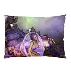 Wonderful Fairy In The Wonderland , Colorful Landscape Pillow Case (two Sides) by FantasyWorld7