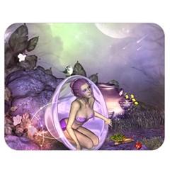 Wonderful Fairy In The Wonderland , Colorful Landscape Double Sided Flano Blanket (medium)  by FantasyWorld7