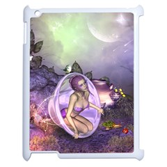 Wonderful Fairy In The Wonderland , Colorful Landscape Apple Ipad 2 Case (white) by FantasyWorld7