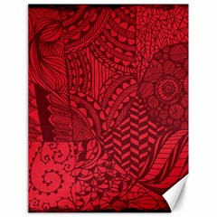 Deep Red Background Abstract Canvas 18  X 24   by Simbadda
