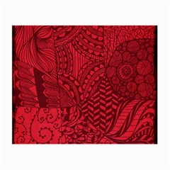 Deep Red Background Abstract Small Glasses Cloth (2 Side) by Simbadda
