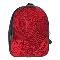 Deep Red Background Abstract School Bags(large)