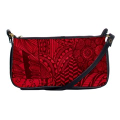 Deep Red Background Abstract Shoulder Clutch Bags by Simbadda