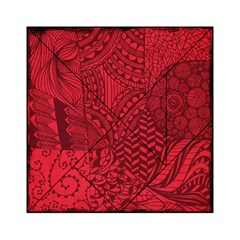 Deep Red Background Abstract Acrylic Tangram Puzzle (6  x 6 ) by Simbadda