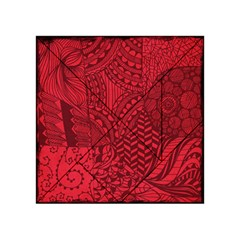 Deep Red Background Abstract Acrylic Tangram Puzzle (4  X 4 ) by Simbadda