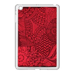 Deep Red Background Abstract Apple Ipad Mini Case (white) by Simbadda
