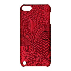 Deep Red Background Abstract Apple Ipod Touch 5 Hardshell Case With Stand by Simbadda