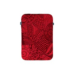 Deep Red Background Abstract Apple Ipad Mini Protective Soft Cases by Simbadda