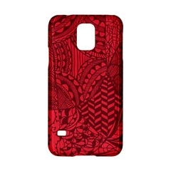 Deep Red Background Abstract Samsung Galaxy S5 Hardshell Case  by Simbadda